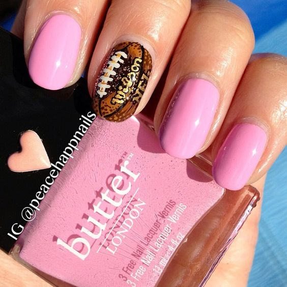 Superbowl girly party nails