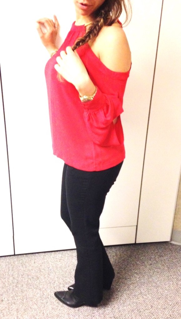 Valentines Day look top and pants