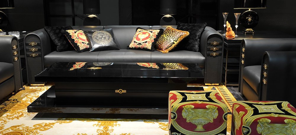 Versace home, Versace cushions, Versace furniture, Versace ottoman