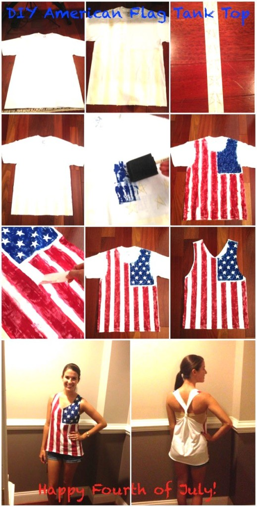 American Flag tank top DIY