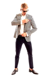 Striped suit in Vogue for SS16