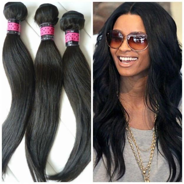 Virgin straight Brazilian hair extensions