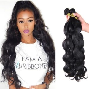 Wavy Brazilian hair extensions