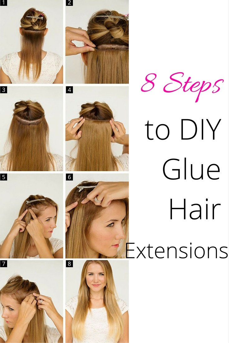 8 Steps To Diy Glue Brazilian Hair Extensions The Wardrobe Stylist