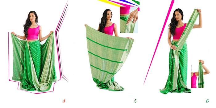 Drape a saree steps 4 to 6