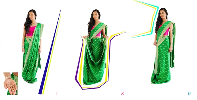 Drape a saree steps 7 to 9