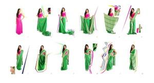 How to drape Bollywood sarees