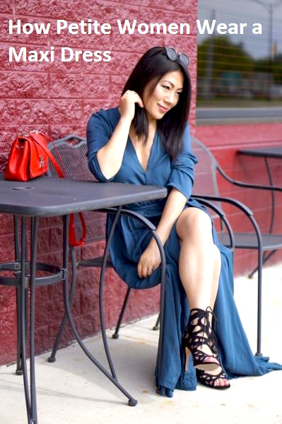Grace's outfit - Maxi blue slit dress with gladiator sandals
