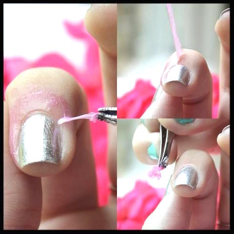 Professional manicure finish with liquid nail tape
