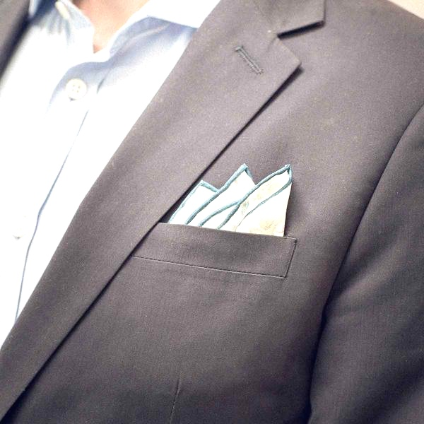 3 point fold pocket square