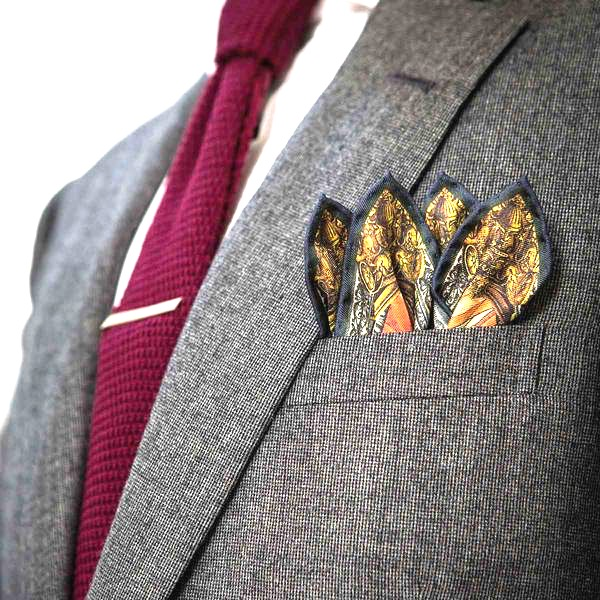 4 point crown fold pocket square
