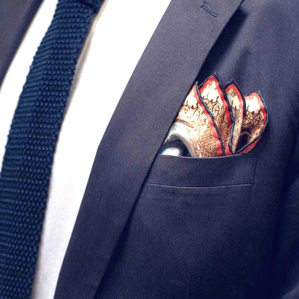 4 point fold pocket square
