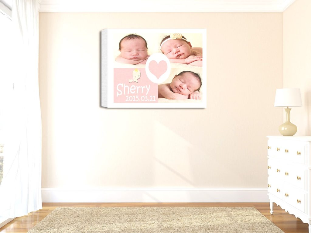 Personalized baby collage