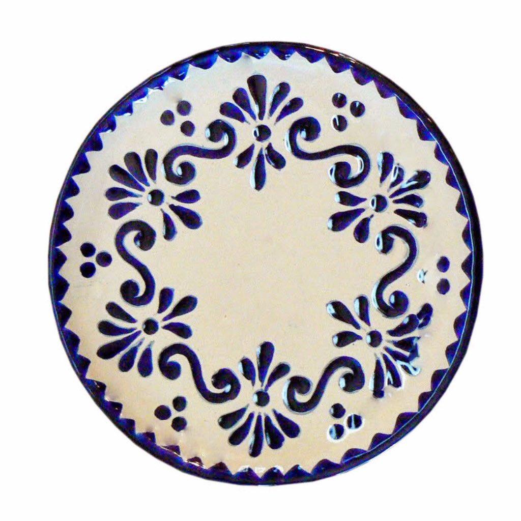 Rustica gift Azul y Blanco Talavera appetizer plate