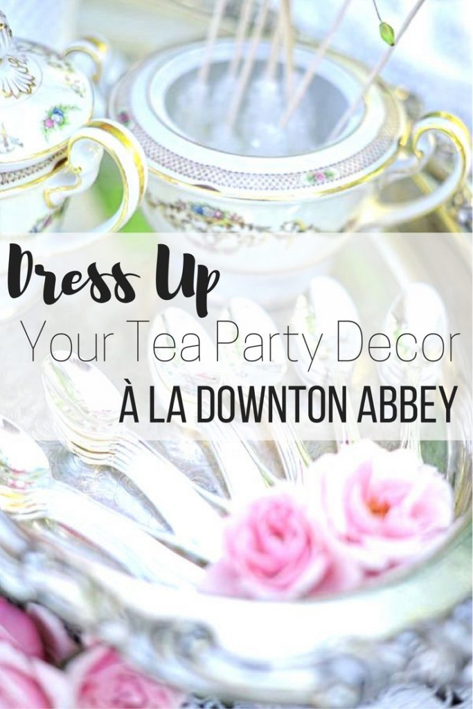 Tea party decor à la Downton Abbey - Pin