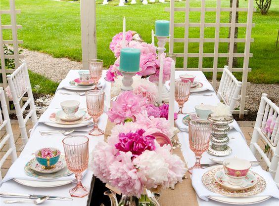 High tea time table setting