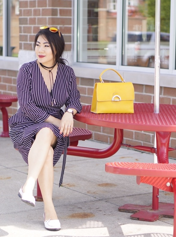 grace-in-white-and-navy-striped-dress-with-yellow-bag
