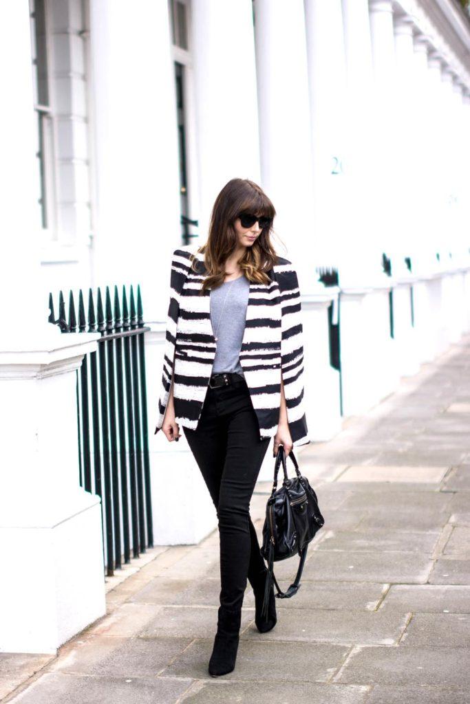 ej-style-emma-hill-black-white-cape-blazer-stripe-skinny-jeans