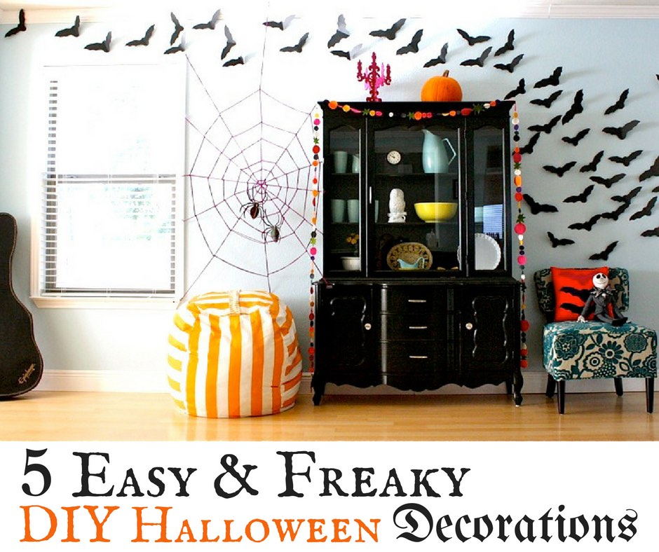 5 easy freaky diy halloween decorations the wardrobe for Easy diy halloween decorations