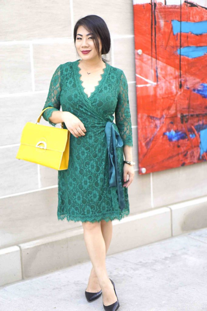 grace-in-a-green-dress-with-a-yellow-purse