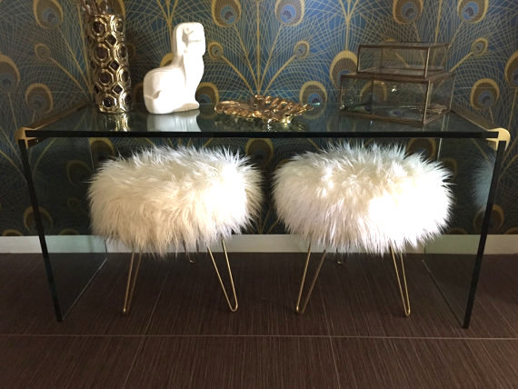 Ikea Hack Sheepskin Fur Stool Diy The Wardrobe Stylist