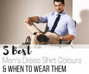 5 best dress shirt colours for men and when to wear them - FB