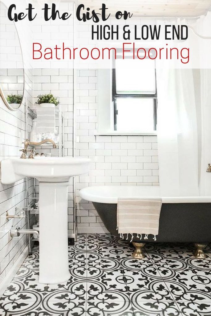 High and low end floorings for bathroom guide - pin