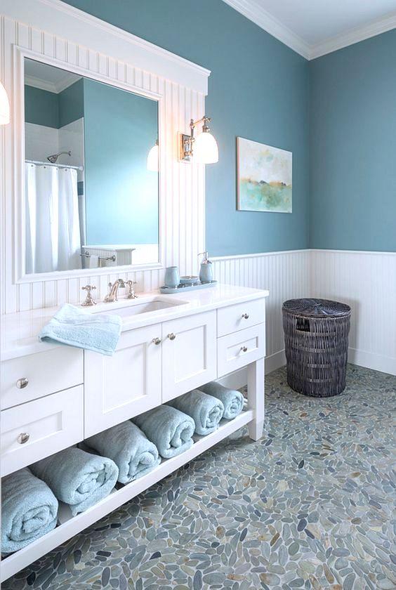 Pebble bathroom floor