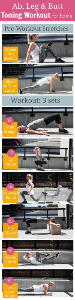 ab, leg, butt, toning workout