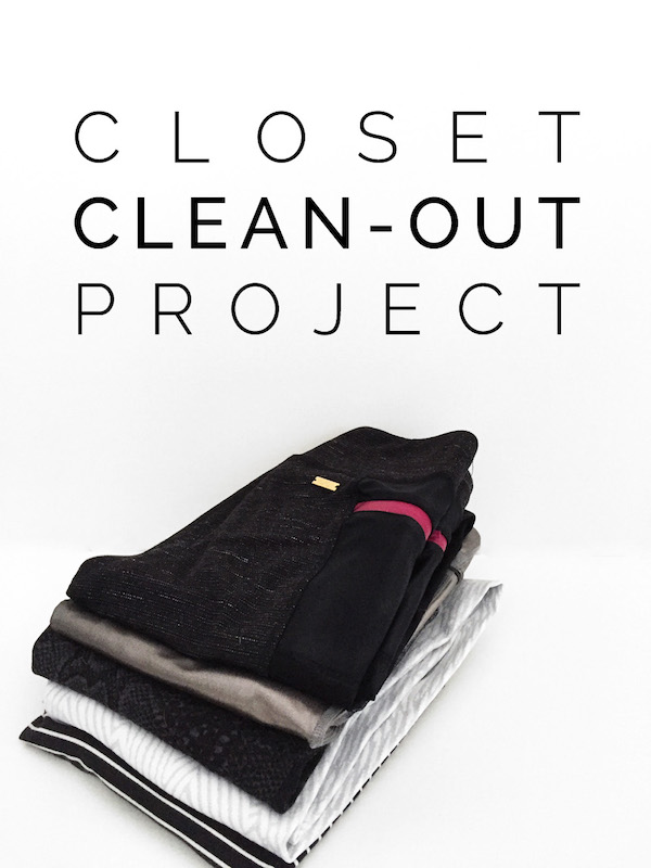 Capsule wardrobe, clearing out your closet