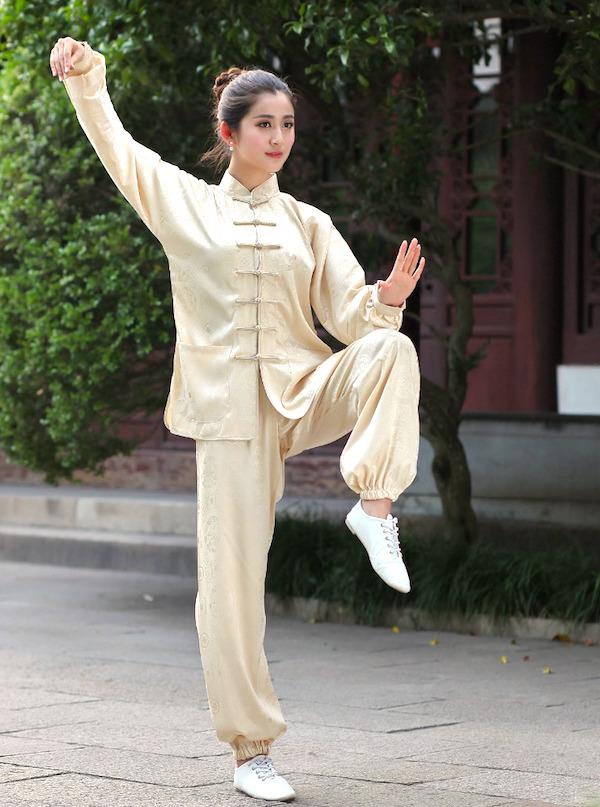 Woman doing martial arts, tai chi woman, martial arts