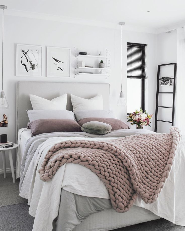 Bedroom decor ideas, Master bedroom decor, apartment bedroom decor, bedroom decor on a budget, bedroom throw