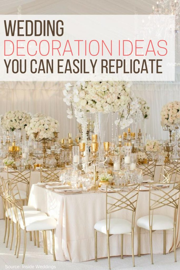 Wedding Decoration Ideas You Can Easily Replicate The Wardrobe Stylist