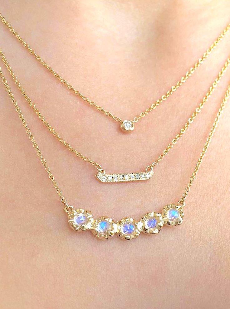 Stacked diamond necklaces