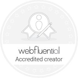 Webfluential Accredited Creator logo