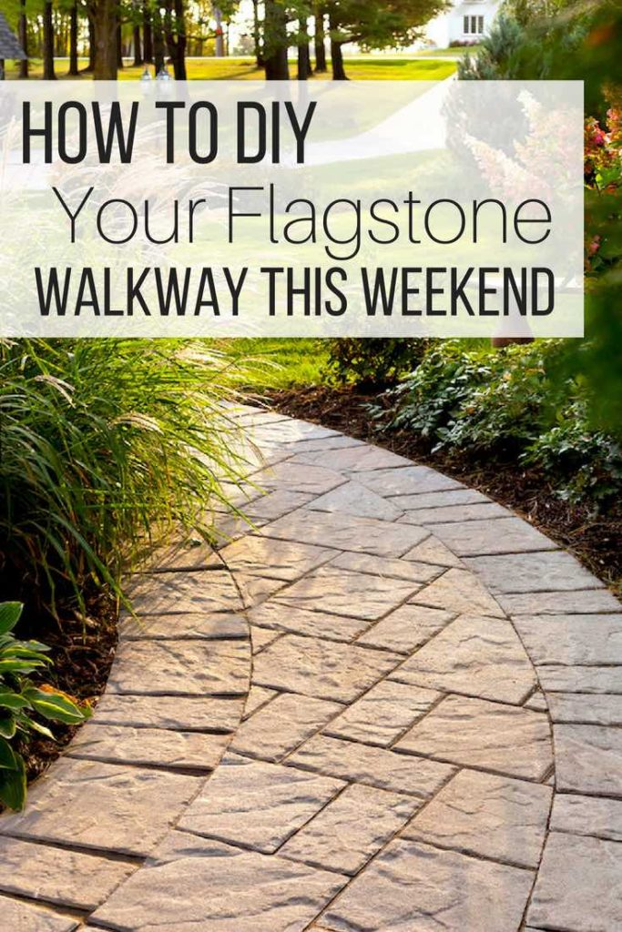 How to DIY Your Flagstone Walkway This Weekend_pin