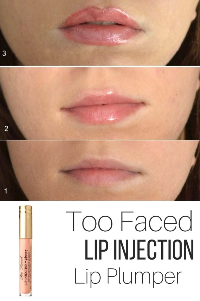 Too Faced Lip Injection lip plumping before after