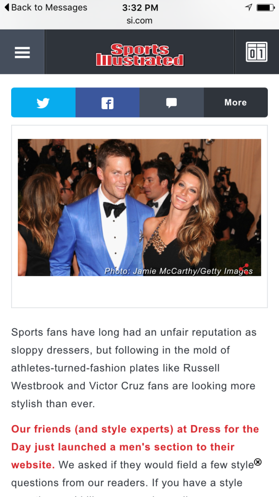Sports Illustrated x Dress for The Day mens style