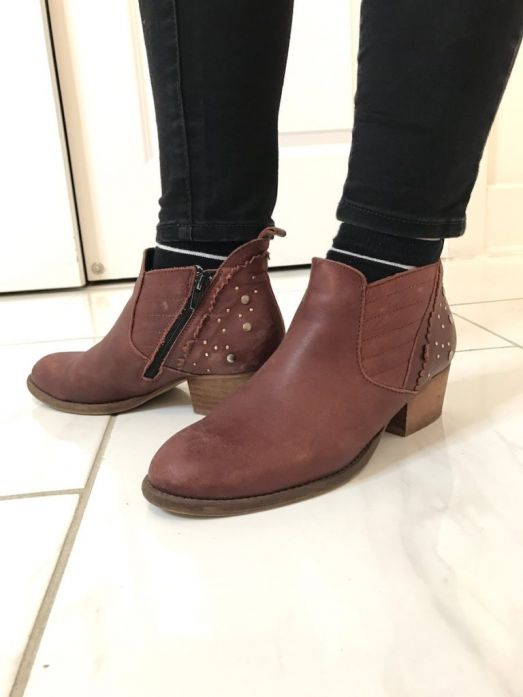 Mothers day gift, Burgundy booties