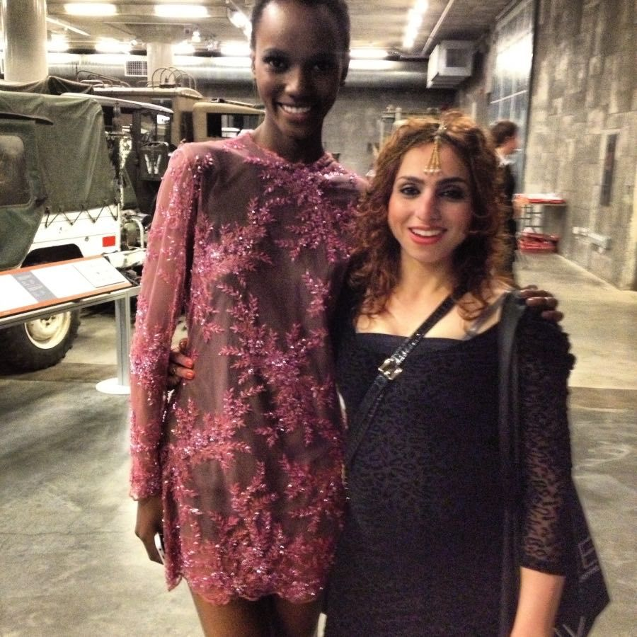Supermodel Hariette Paul and I at Angies Showcase at 5 months pregnant