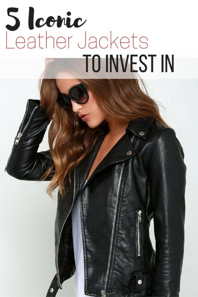 5 iconic fashion leather jackets to invest in