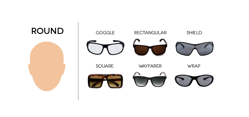 All types of sunglasses frames perfect for round faces