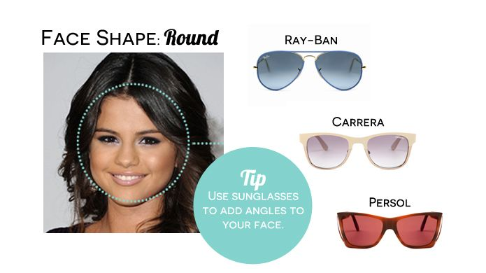 Selena omez celebrity with round face - sunglasse style that best suit her face