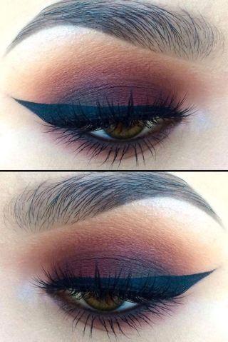 Little Burgundy eye makeup look