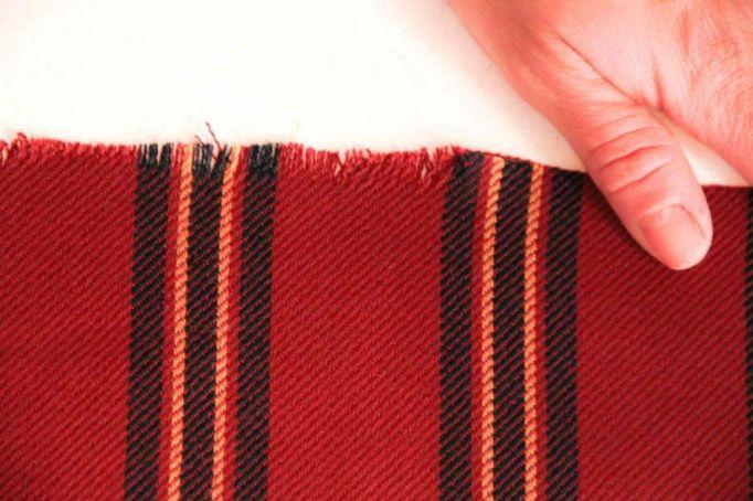 Blanket scarf frayed edges