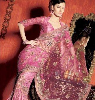 Saree in pink