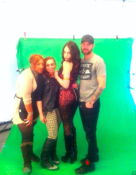 Rania with Liz Gillies at Artestile photos shoot