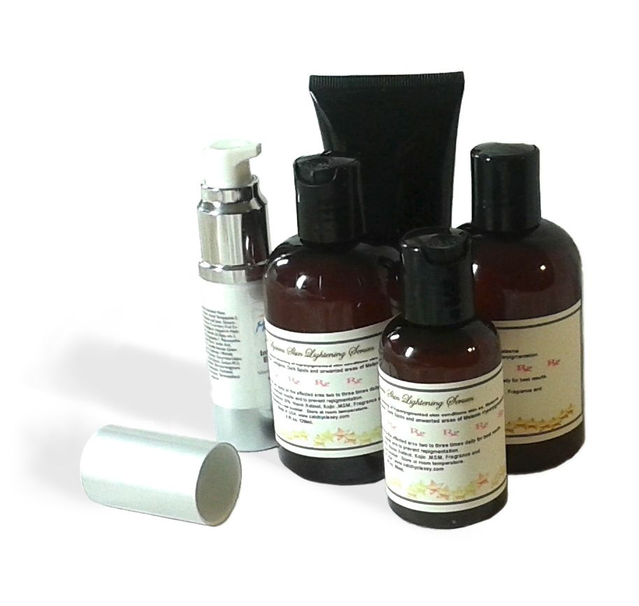 Hydroquinone creams and serums