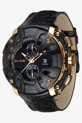 Black and gold casual men's watch