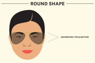 Features to highlight with sunglasses for round faces